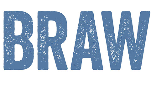 Logo artwork for Braw design training